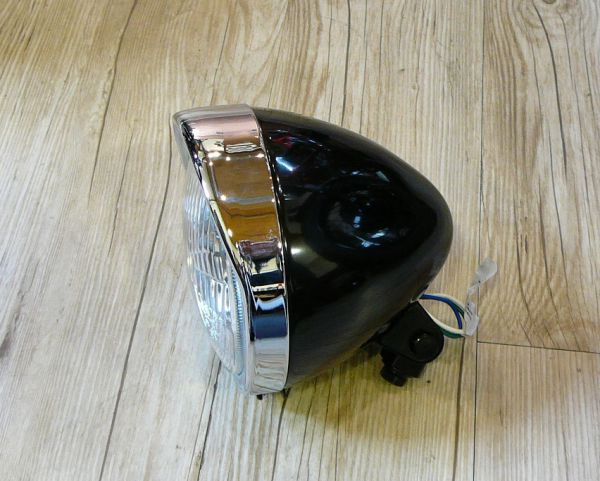 Lampe oldstyle Bobber Type2 chrome mit geprägtem Glas