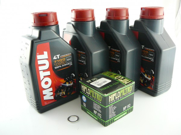 Ölwechselsatz Triumph, Motul 7100 10W50 vollsynthetisch 14mm