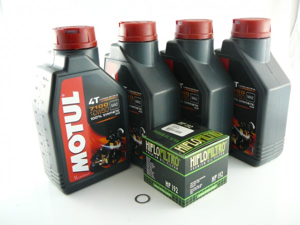 lwechselsatz triumph motul 7100 10w50 vollsynthetisch. Black Bedroom Furniture Sets. Home Design Ideas